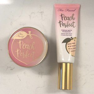 Too Faced Peach Perfect Foundation + Loose Powder